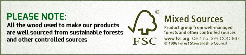 our wood is FSC compliant